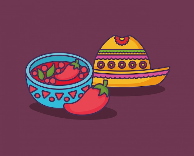 Mexican food Premium Vector