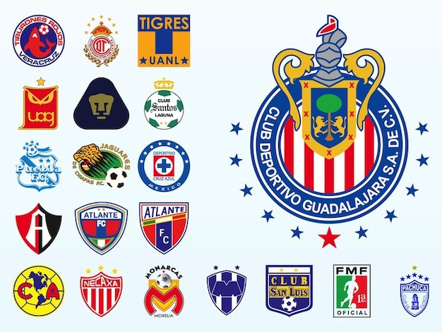 Mexican football champion logos vector vector free download for Mexican logos pictures