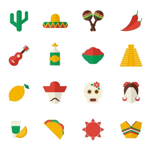 Мексиканский коллекция пункт Бесплатные векторы
