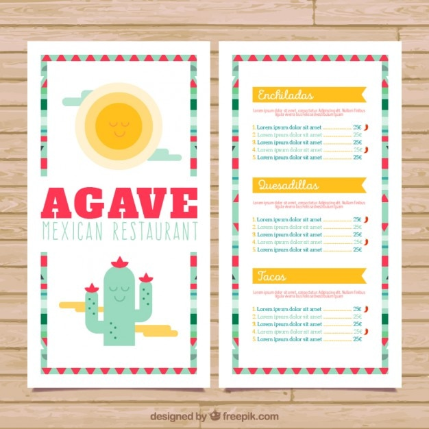 Mexican menu with a funny cactus vector premium download mexican menu with a funny cactus premium vector stopboris Image collections