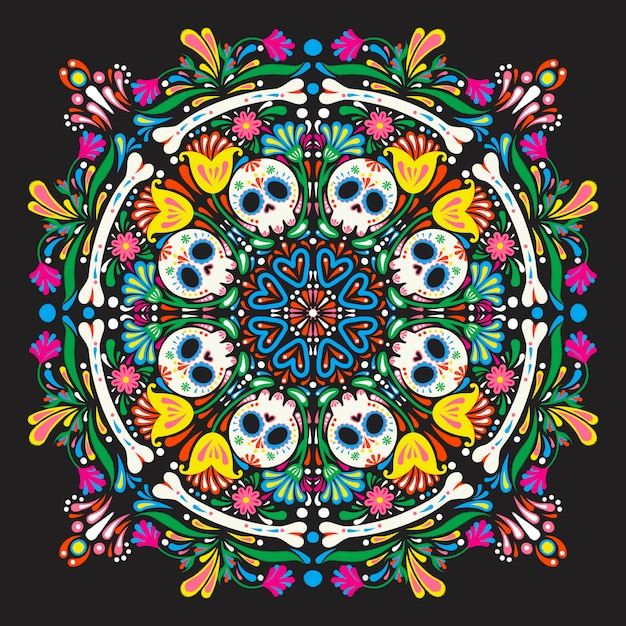 Mexican pattern Premium Vector
