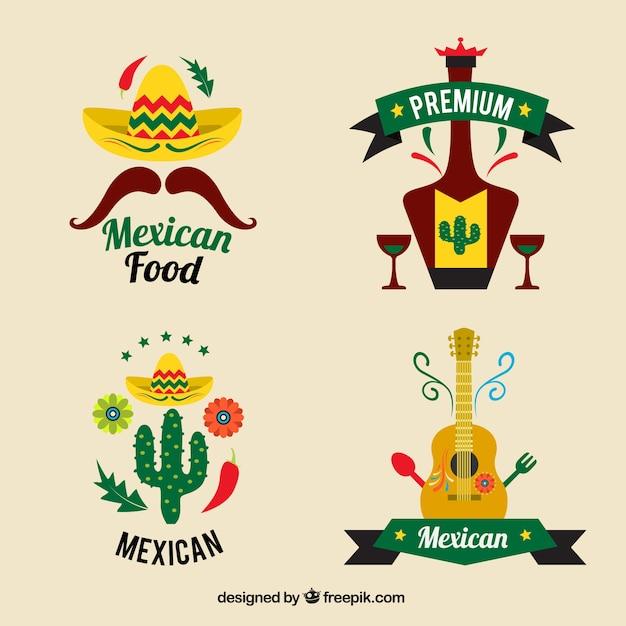 mexican restaurants logo set vector free download rh freepik com mexican food logo vector mexican food logo design