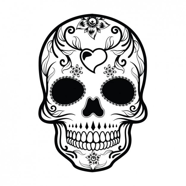Mexican skull design Free Vector