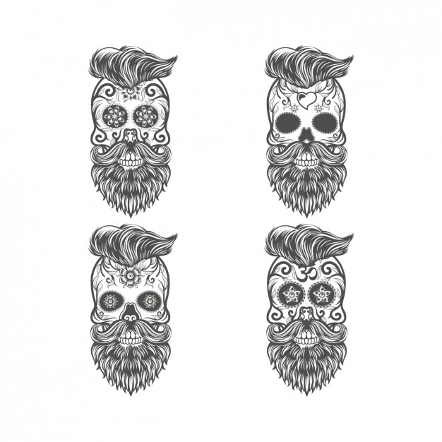 Mexican skull design Free Vector