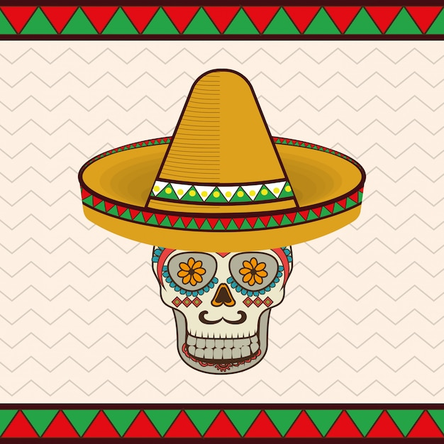 Mexican skull mask icons Vector  2463b4c4227