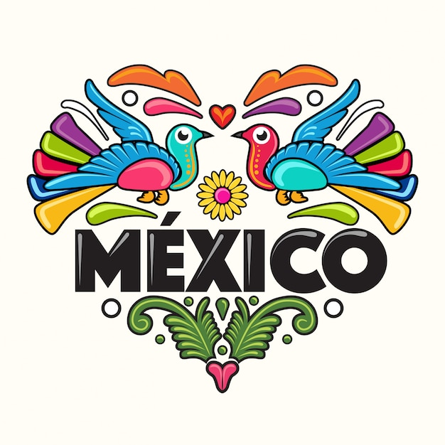 Mexican style illustration Premium Vector
