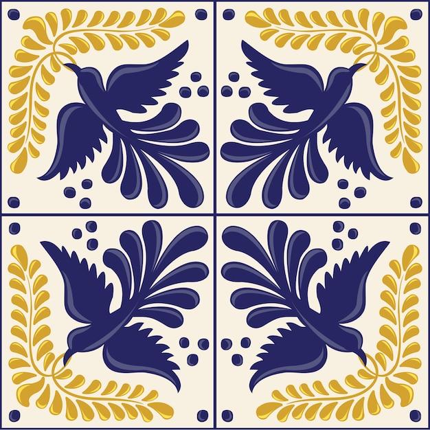 メキシコのタラベラ鳥コレクション Premiumベクター