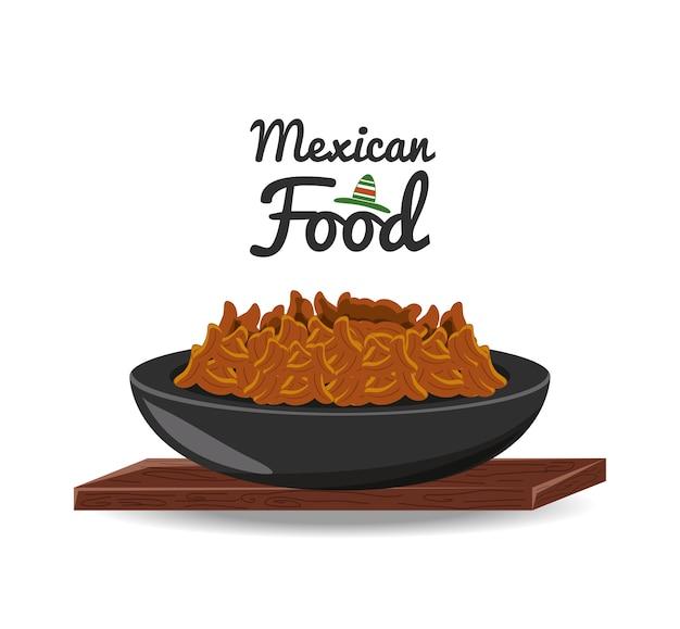 Мексиканский традиционный пищевой чили с мясом Premium векторы