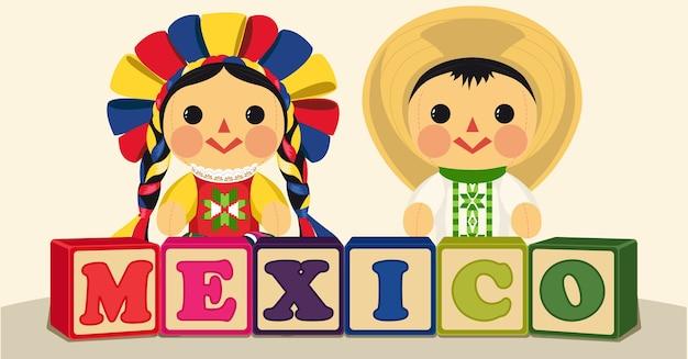 メキシコの伝統的なおもちゃ Premiumベクター