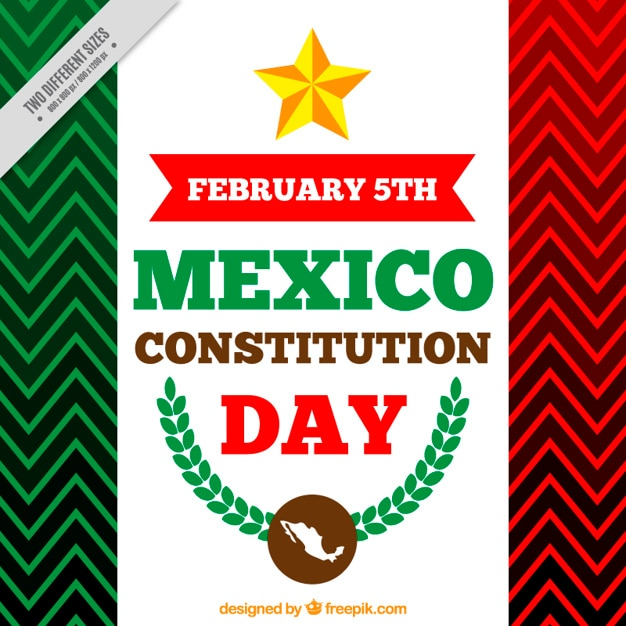 mexico constitution day background vector free download