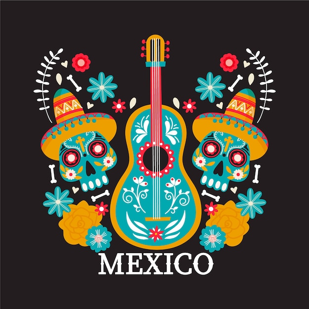 Mexico country illustration. Premium Vector