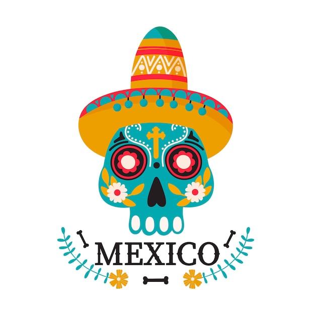 メキシコの国のイラスト。 Premiumベクター