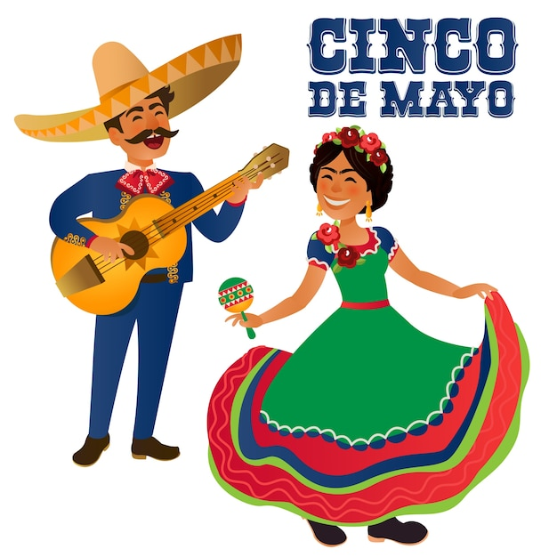 mexico dancer and guitar player at the cinco de mayo festival mexican and latin music folk. Black Bedroom Furniture Sets. Home Design Ideas