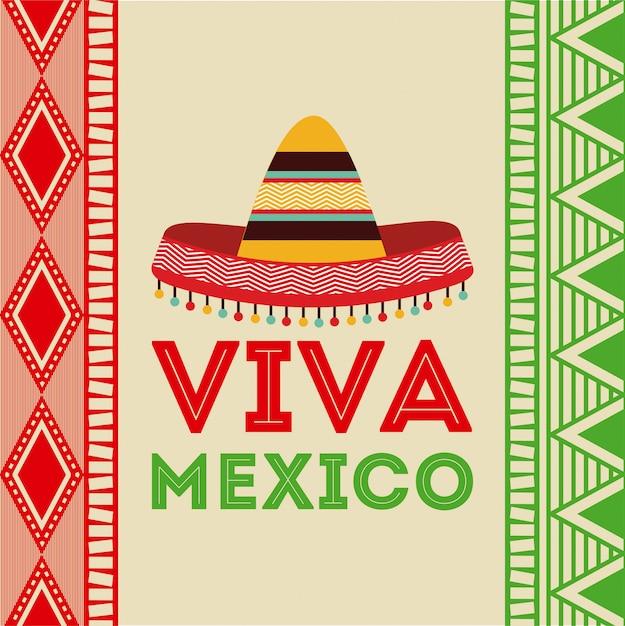 Mexico design over colorful background vector illustration Premium Vector
