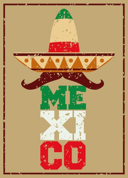 Mexico design. Premium Vector