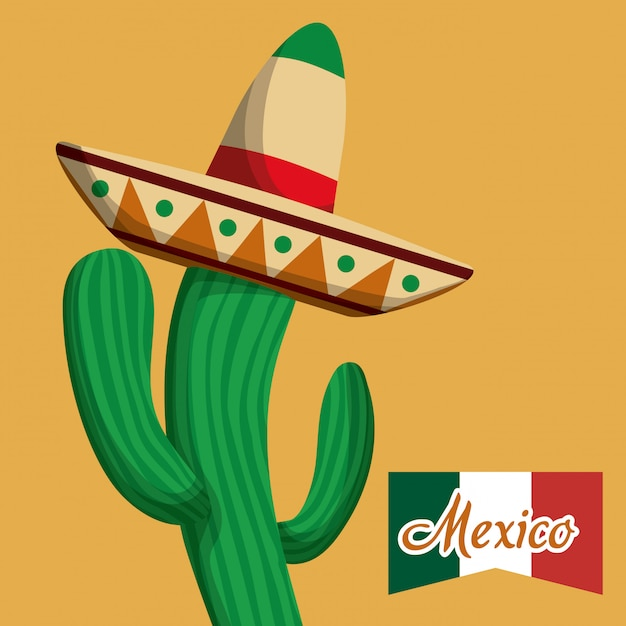 Mexico design. Premium Vector