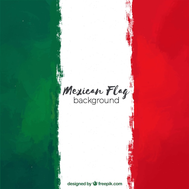 Mexico flag background Free Vector