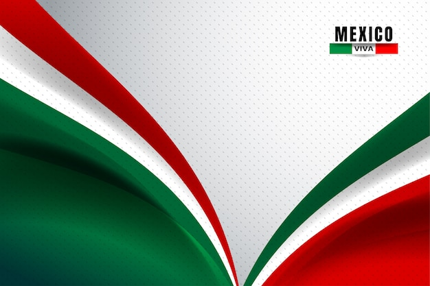 Mexico flag background Premium Vector