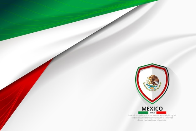 Mexico flag concept background Premium Vector