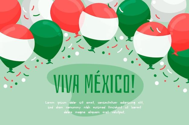 メキシコ独立記念日の背景デザイン 無料ベクター