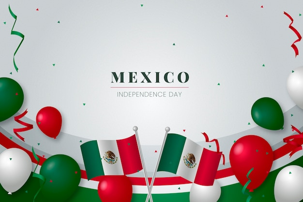 Mexico independence day background theme Free Vector