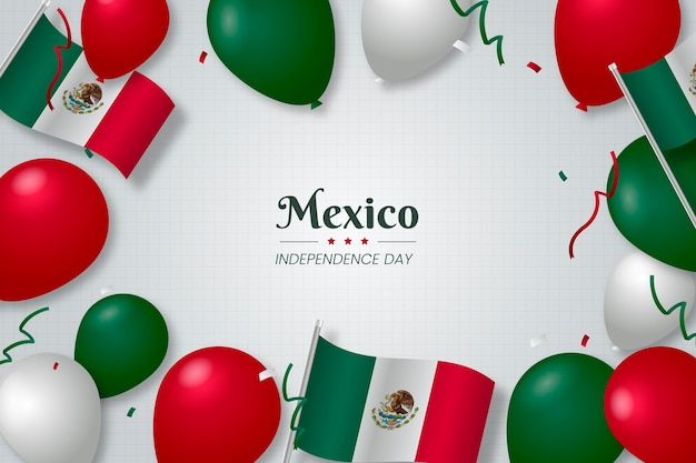 メキシコ独立記念日の背景 Premiumベクター