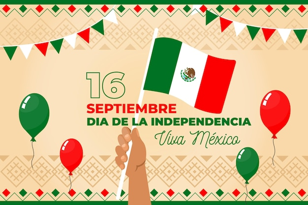 Mexico independence day concept Premium Vector