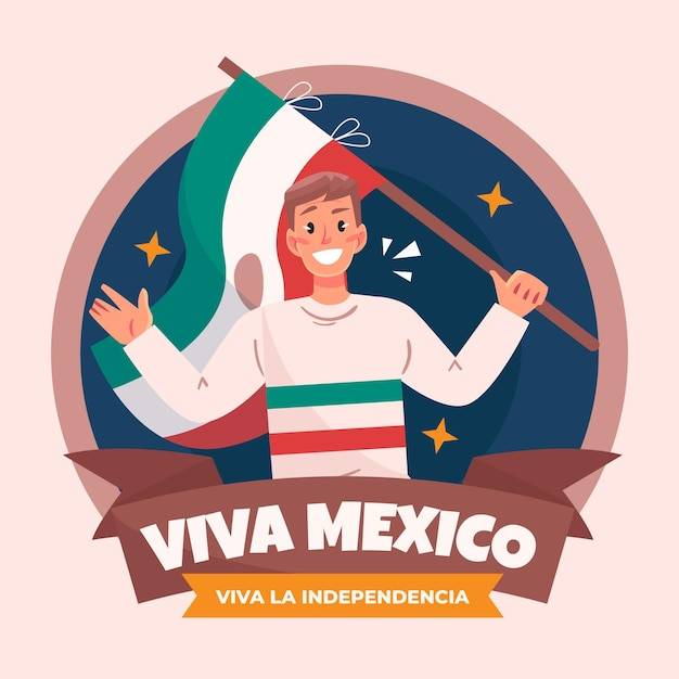 Mexico independence day event Free Vector
