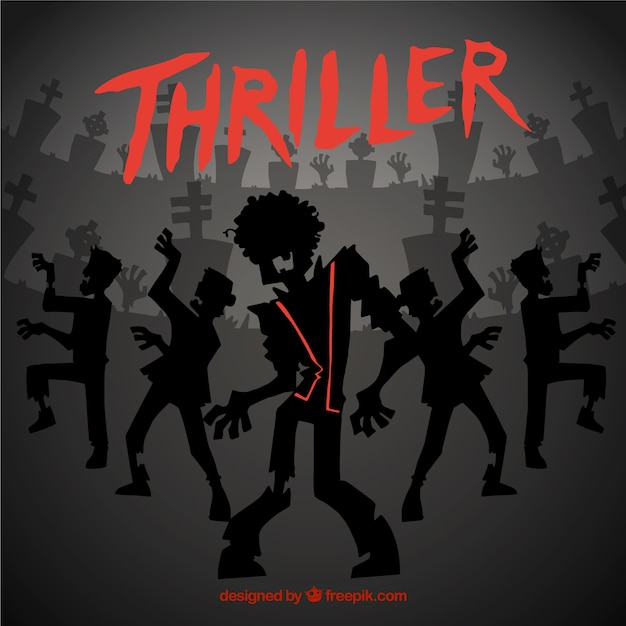 Michael Jackson Thriller Background Free Vector