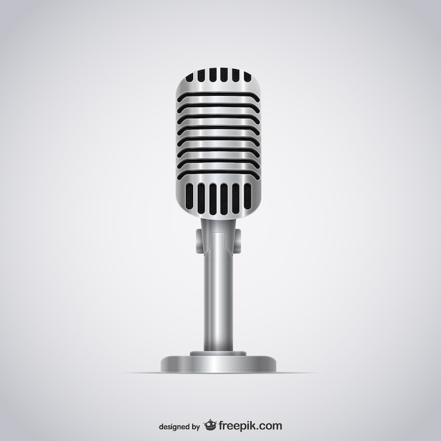 Microphone 3d illustration Free Vector