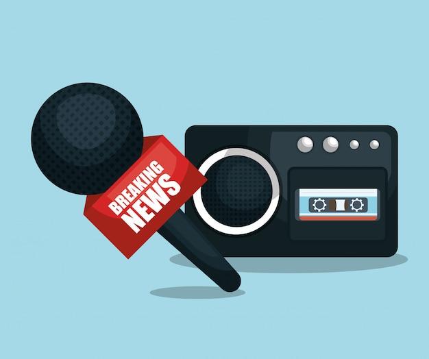 Микрофон и диктофон Бесплатные векторы