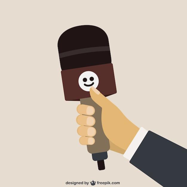 Microphone cartoon Free Vector