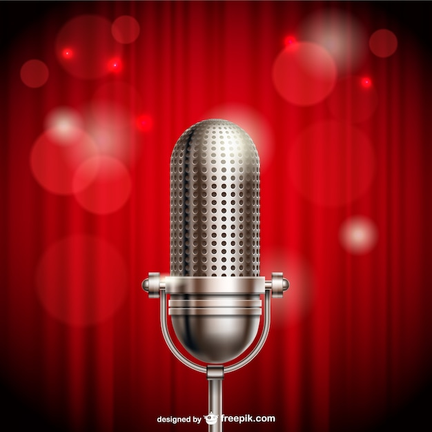 Microphone illustration Free Vector
