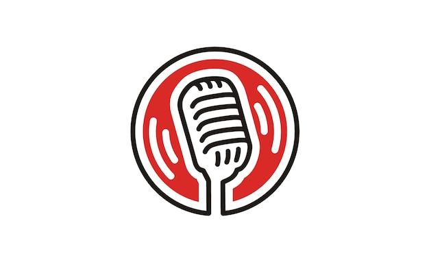 Microphone logo design inspiration Premium Vector