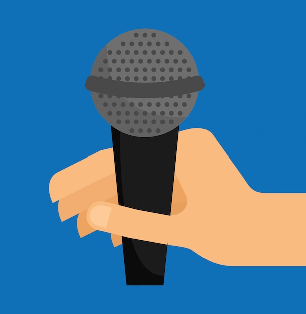 Microphone sound illustration Free Vector