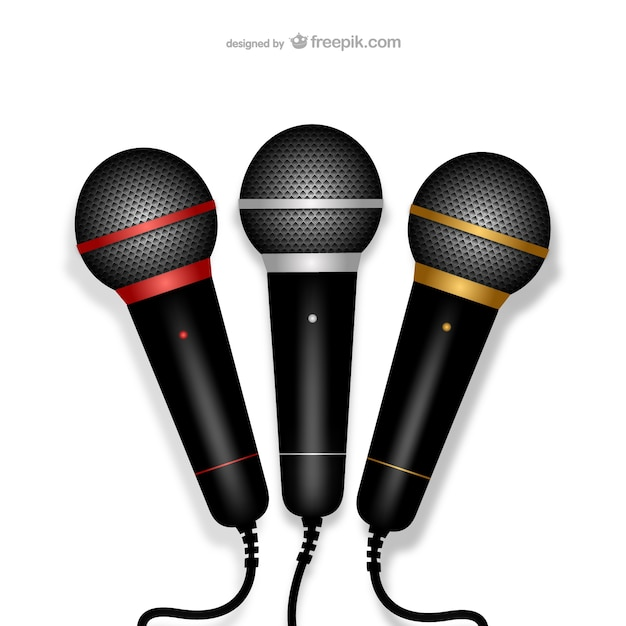 Microphones illustration Free Vector