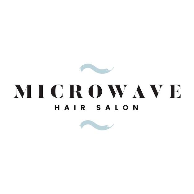 Microwave hair salon logo vector Free Vector