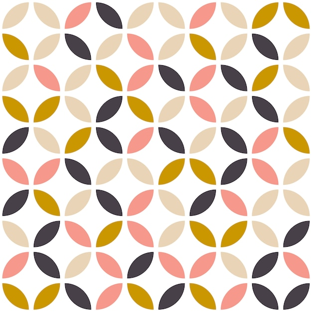 Mid century seamless pattern. Premium Vector