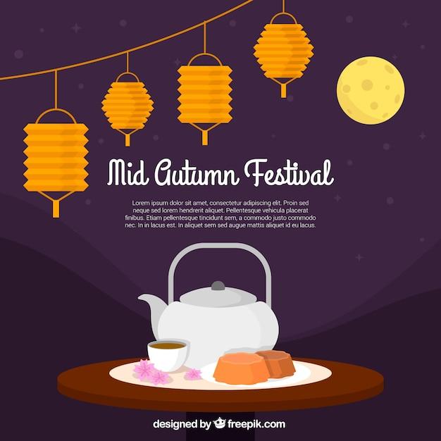 Middle autumn festival, tea