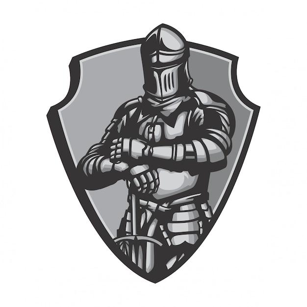 Middlebury agen knight suit vector Premium Vector