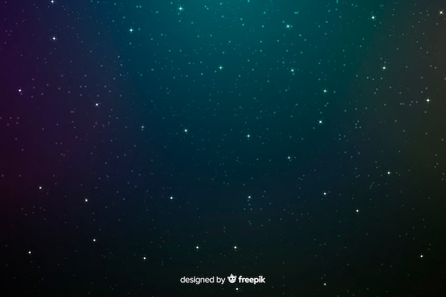 Midnight dark blue and green stars background Free Vector