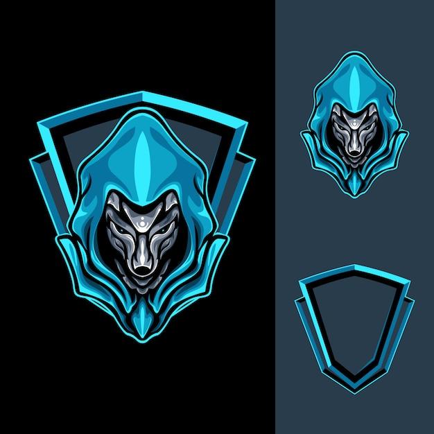 Mighty blue fox illustration Premium Vector