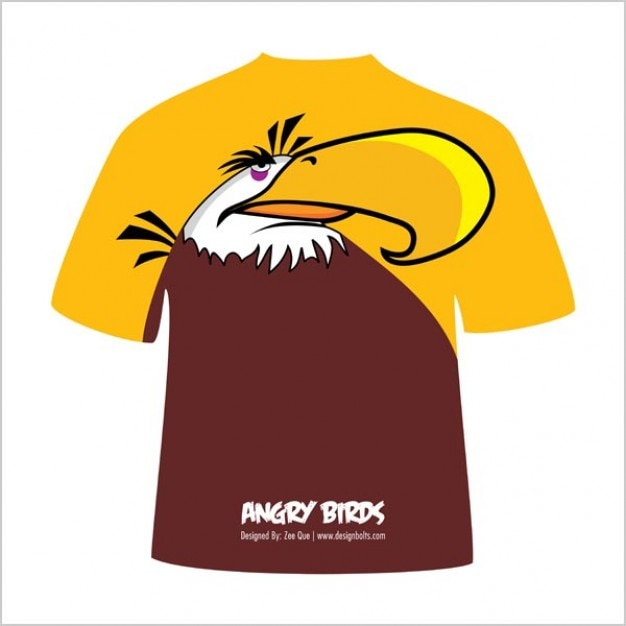 Mighty Eagle Angry Bird T-Shirt design