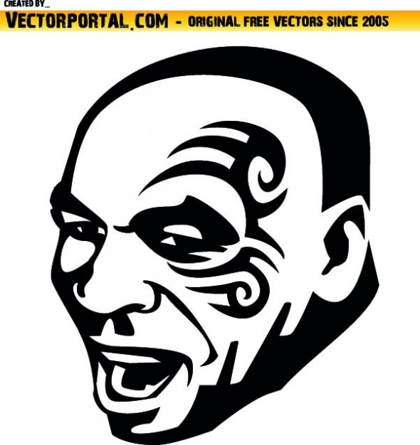 Mike Tyson Face Vector Free Download