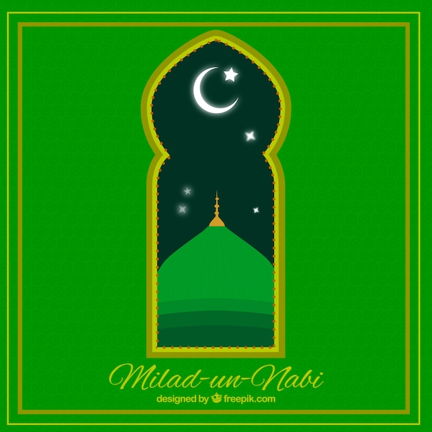 Milad un nabi window background Free Vector