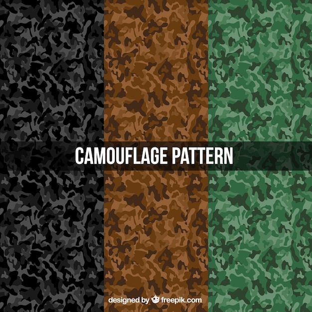 Military abstract patterns Free Vector