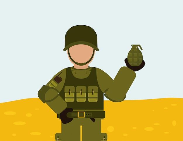 Military armed forces design Premium Vector