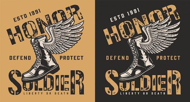 Emblema del marchio militare Vettore gratuito