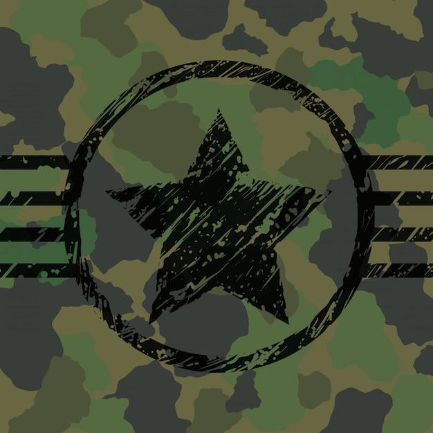 Military camouflage design. Premium Vector