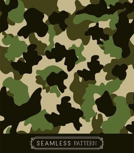 Military camouflage pattern Premium Vector